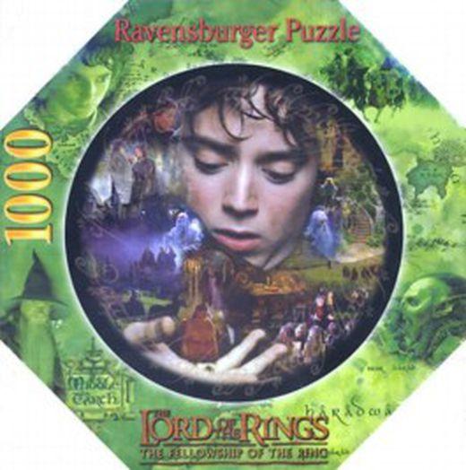 Frodo und die macht des ringes  puzzle  herr der ringe  rundpuzzle  9783473672295 xxl