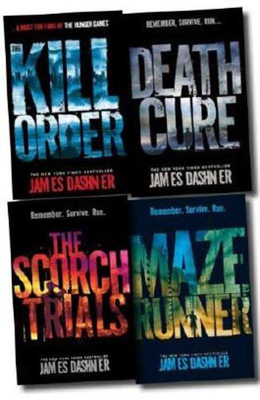 Maze runner trilogy collection james dashner 4 books set  the scorch trials  the maze runner  death  b0031p4ffm xxl