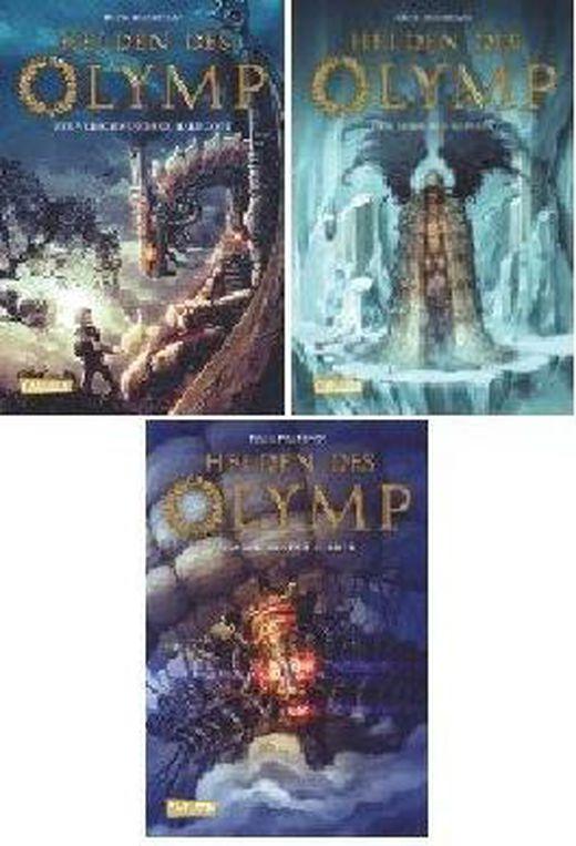 3 bande im hardcover set von rick riordan helden des olymp  1  der verschwundene halbgott   2  der s 8411049026340 xxl