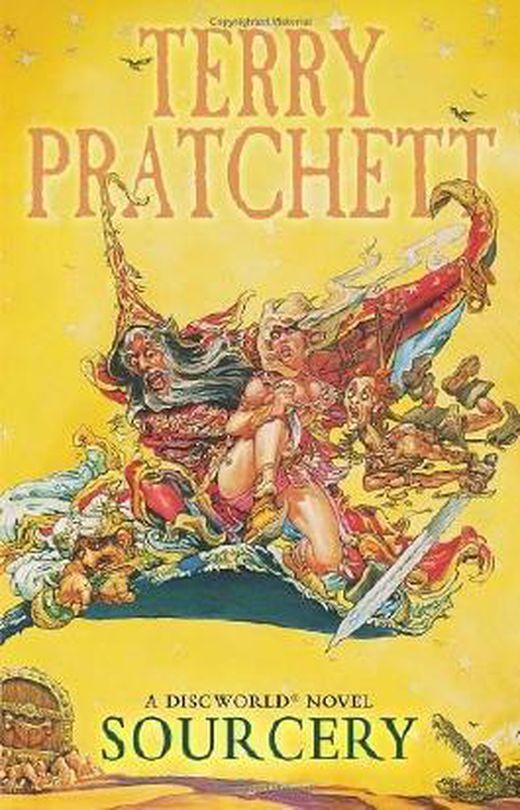 Sourcery   discworld novel 5   discworld novels  by pratchett  terry  2012  paperback b00ij0rcq8 xxl
